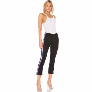 Pam & Gela Cropped Flare Jean With Side Stripes